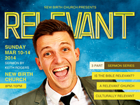 Relevant Church Magazine Flyer Template