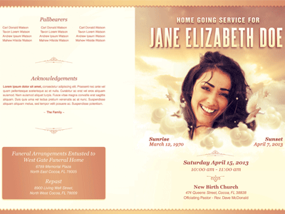 funeral program template free | goseqh.tk