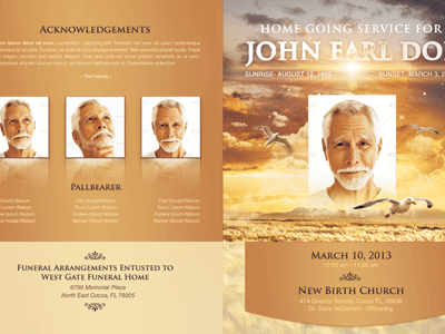 free funeral obituary programs templates .