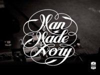 MAN MADE IVORY band logo