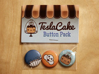 TeslaCake Button Pack