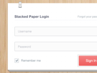 Stacked Paper Login [reworked]