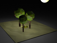 Low poly night