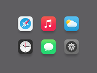 iOS7 Icons Redesign