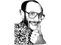 Terry Richardson QR Code Fashion Art