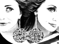 Olsen Twins QR Code Fashion Art
