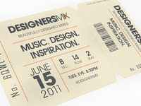 Designers.MX Ticket