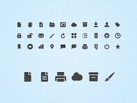 Webapp icon set for Webdesign Tuts+