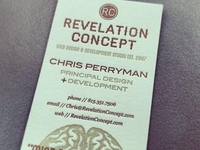 Business Card - Revelation Concept