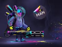 CMYK MAN Colorthrasher