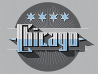 Sanborn Map Style Chicago Emblem