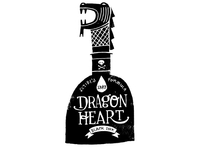 Dragon Heart Black Ink