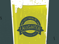 Let There Be Laughter glass