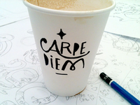 Carpe Diem Coffee Cup