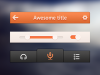 Small orange UI