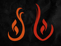 Staring At Fire Logo WIP