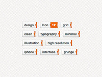 Sliding Tags (free psd + live demo)