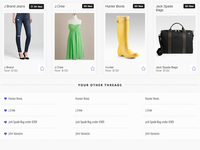 UI Design for a fashion startup