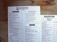 Roadhouse Brewing Co Menu