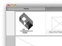 Cooper Union Microsite Prototype (in browser)