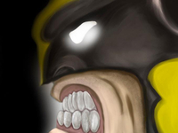 Wolverine S Face   Digital Painting