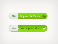 Support & Tweet Button