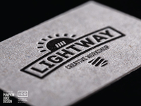 Letter Press Business Card for LightWay