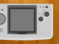 Neo Geo Pocket Color - Wireframe