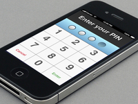 iPhone PIN Interface