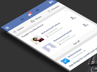 New Facebook flat UI