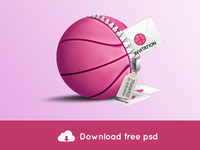 Freebie - Dribbble Invite