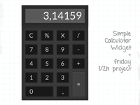 Simple Calculator Widget