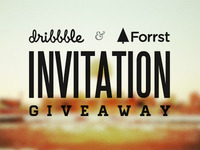 Dribbble & Forrst Invitation Giveaway