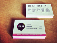 KALBU.LT business cards