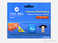 Full Sail Internet Marketing ad