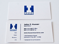 Hussar Insurance Logo & Business Card
