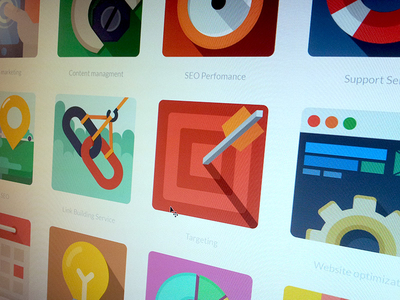 Download Free Flat SEO Icons