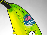 Banana Zombie iPhone 5 Wallpaper