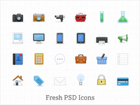 Fresh PSD Icon Set