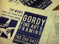 Gordy Fine Art & Framing Card