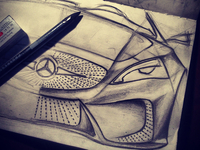 Drawing... Mercedes-Benz Concept.