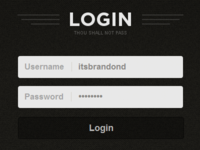 Login Screen