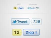 "Digg copied Twitters ""Tweet"" button!?"