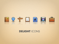 Delight Icons free psd