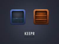 Keepr free psd icons