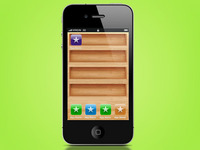 Wooden iphone shelves