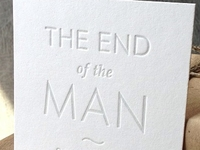 Authenticity card for The End of the Man