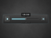 Dark Media Player Skin