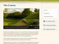 Golf Course Website Interior Page
