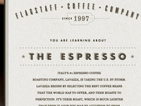 Interior Page for the Flagstaff Coffee Company Redesign